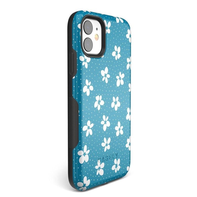 Flower My World | Ocean Blue Flower Case iPhone Case get.casely