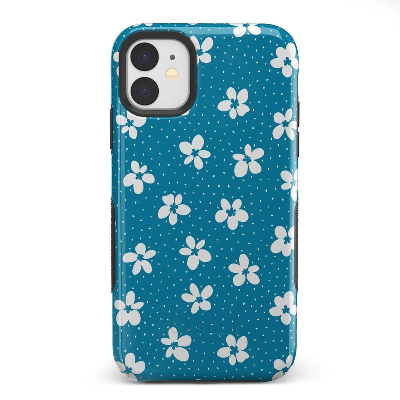 Flower My World | Ocean Blue Flower Case iPhone Case get.casely Bold iPhone 11