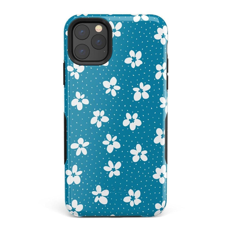 Flower My World | Ocean Blue Flower Case iPhone Case get.casely Bold iPhone 11 Pro Max