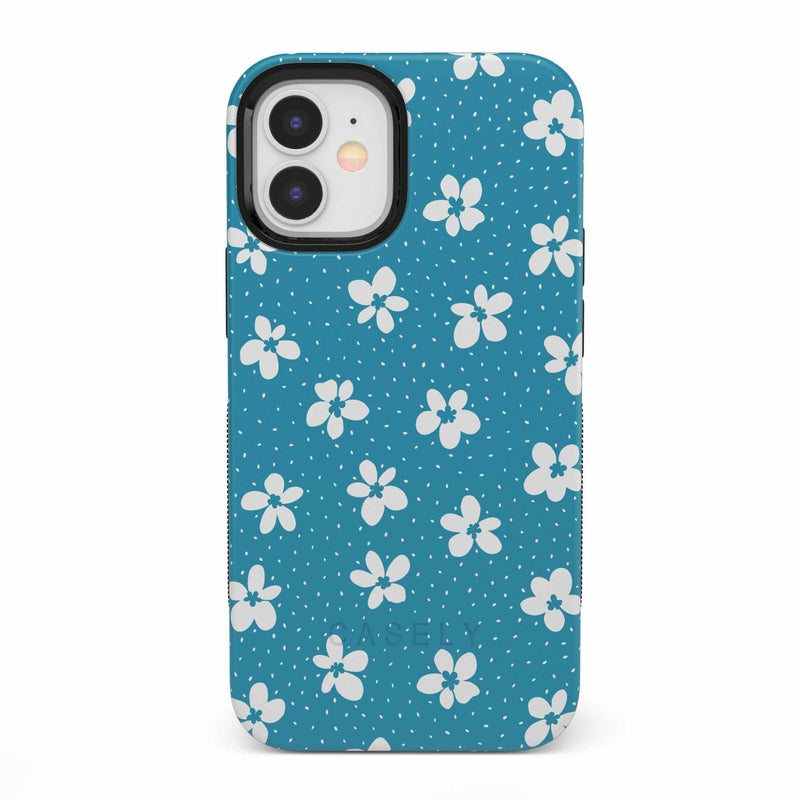 Flower My World | Ocean Blue Flower Case iPhone Case get.casely Bold iPhone 12 Mini