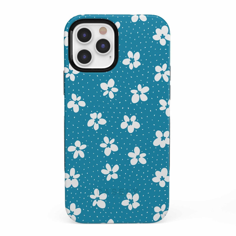 Flower My World | Ocean Blue Flower Case iPhone Case get.casely Bold iPhone 12 Pro