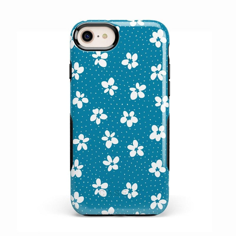 Flower My World | Ocean Blue Flower Case iPhone Case get.casely Bold iPhone 8