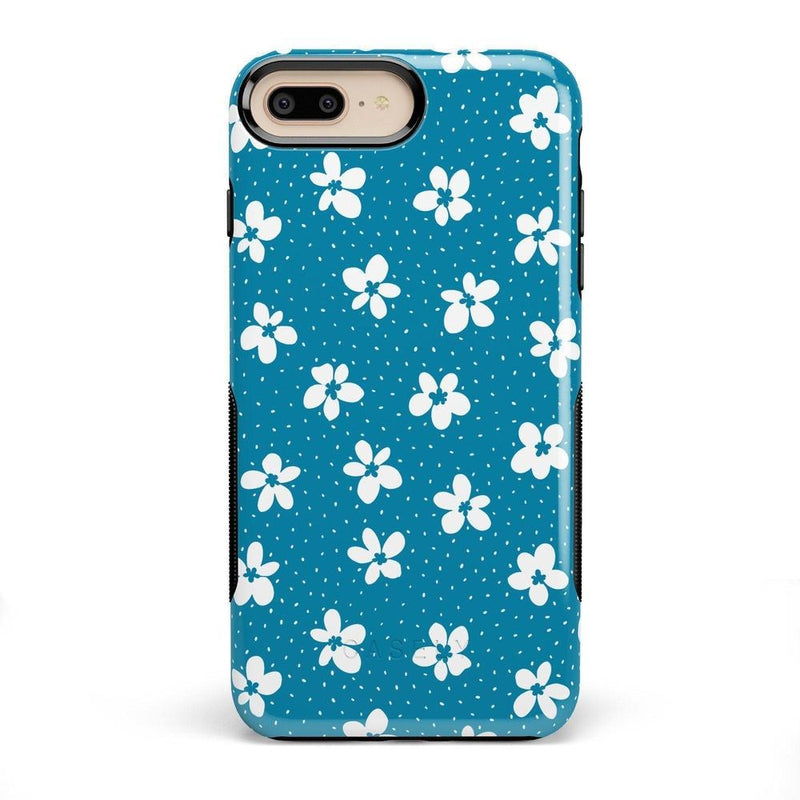 Flower My World | Ocean Blue Flower Case iPhone Case get.casely Bold iPhone 8 Plus