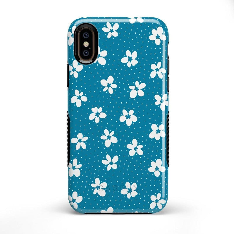 Flower My World | Ocean Blue Flower Case iPhone Case get.casely Bold iPhone X / XS
