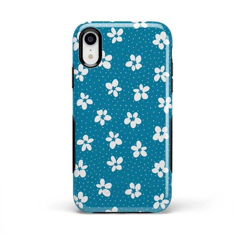 Flower My World | Ocean Blue Flower Case iPhone Case get.casely Bold iPhone XR