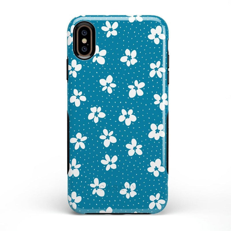 Flower My World | Ocean Blue Flower Case iPhone Case get.casely Bold iPhone XS Max