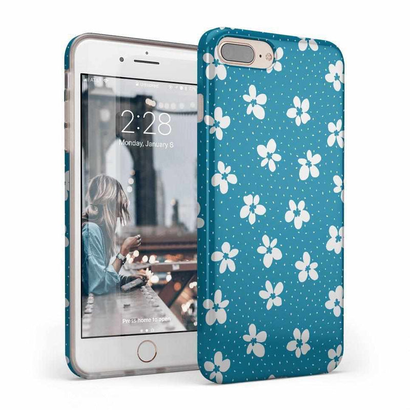 Flower My World | Ocean Blue Flower Case iPhone Case get.casely Classic iPhone 8 Plus