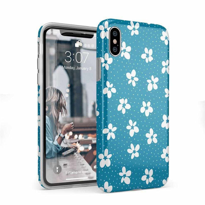 Flower My World | Ocean Blue Flower Case iPhone Case get.casely Classic iPhone X / XS