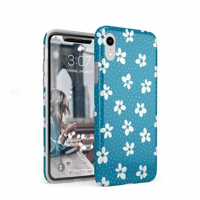 Flower My World | Ocean Blue Flower Case iPhone Case get.casely Classic iPhone XR