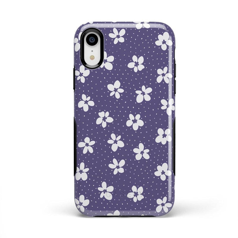 Flower My World | Purple Mauve Flower Case iPhone Case get.casely Bold iPhone XR