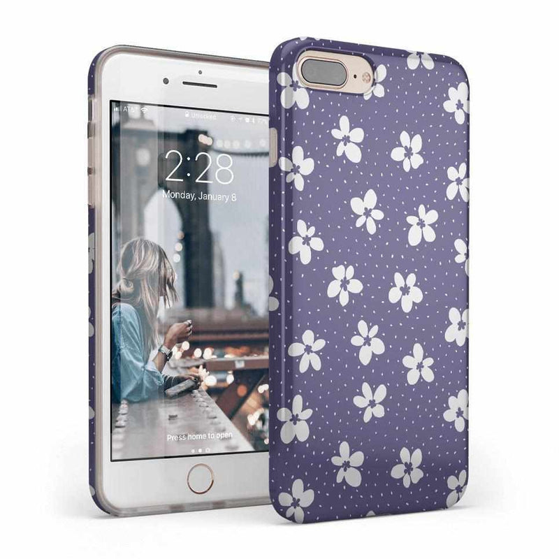 Flower My World | Purple Mauve Flower Case iPhone Case get.casely Classic iPhone 8 Plus