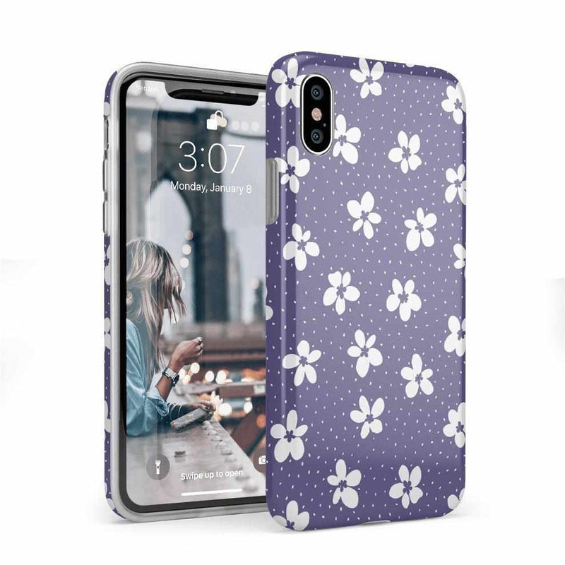 Flower My World | Purple Mauve Flower Case iPhone Case get.casely Classic iPhone X / XS