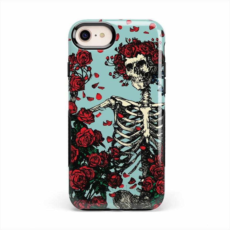 Forever Grateful | Grateful Dead Skeleton Case iPhone Case get.casely Bold iPhone 8