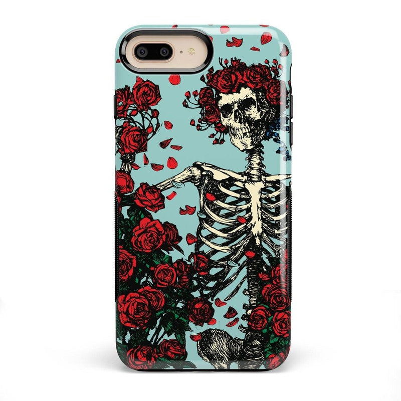 Forever Grateful | Grateful Dead Skeleton Case iPhone Case get.casely Bold iPhone 8 Plus