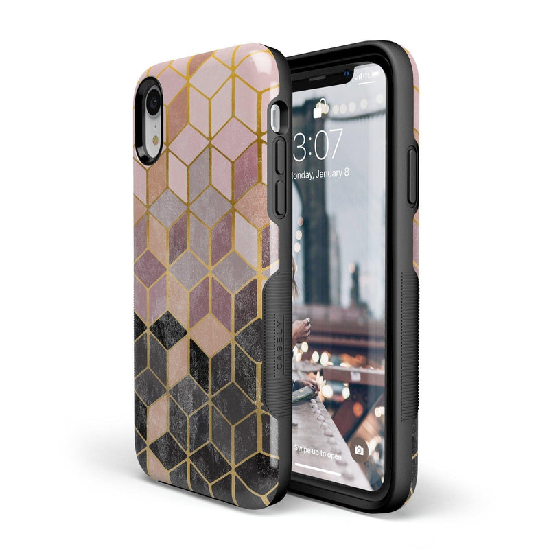 Geo Rose Gold Marble Case iPhone Case Get.Casely
