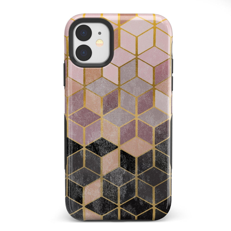Geo Rose Gold Marble Case iPhone Case Get.Casely Bold iPhone 11