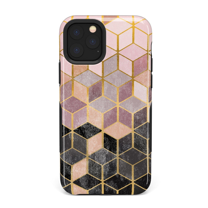Geo Rose Gold Marble Case iPhone Case Get.Casely Bold iPhone 11 Pro