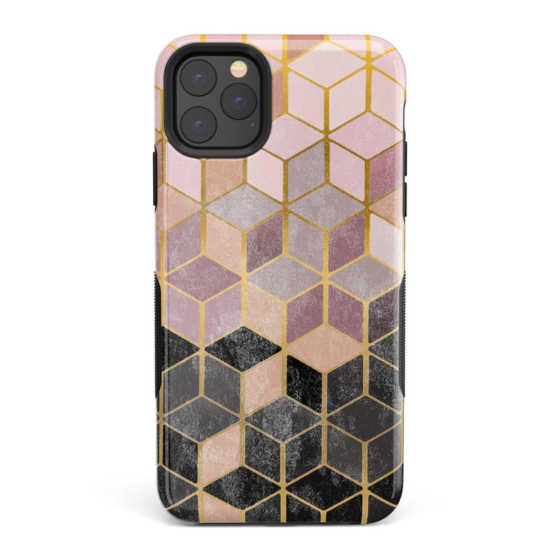 Geo Rose Gold Marble Case iPhone Case Get.Casely Bold iPhone 11 Pro Max