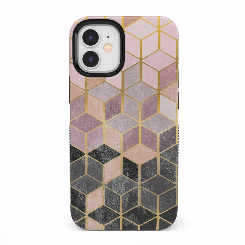 Geo Rose Gold Marble Case iPhone Case get.casely Bold iPhone 12 Mini