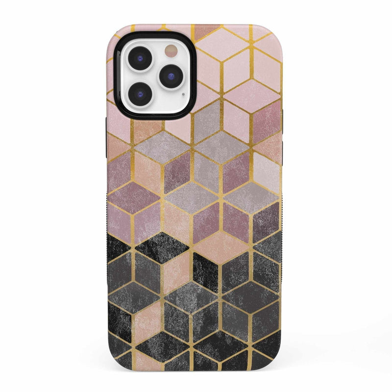 Geo Rose Gold Marble Case iPhone Case get.casely Bold iPhone 12 Pro