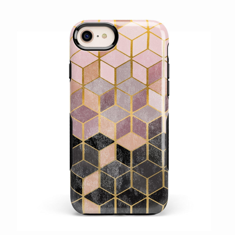 Geo Rose Gold Marble Case iPhone Case Get.Casely Bold iPhone 8