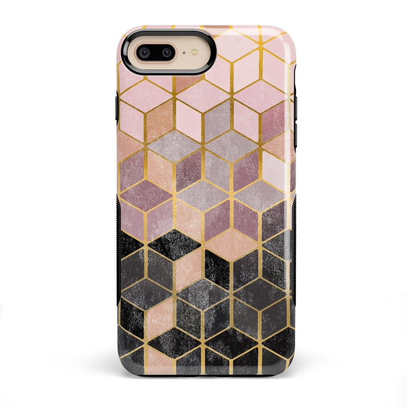 Geo Rose Gold Marble Case iPhone Case Get.Casely Bold iPhone 8 Plus