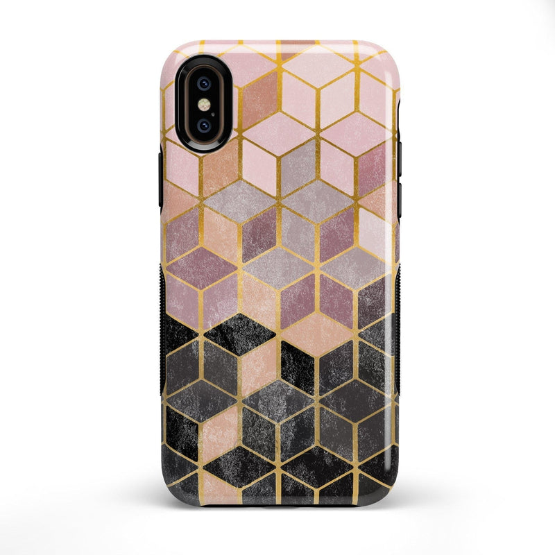 Geo Rose Gold Marble Case iPhone Case Get.Casely Bold iPhone X / XS