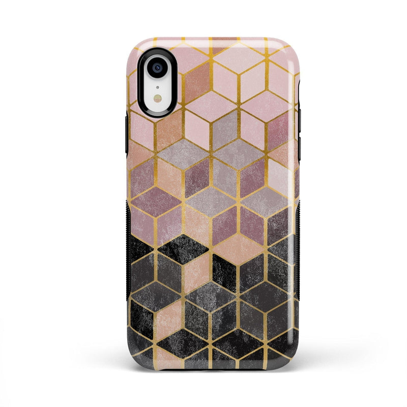 Geo Rose Gold Marble Case iPhone Case Get.Casely Bold iPhone XR