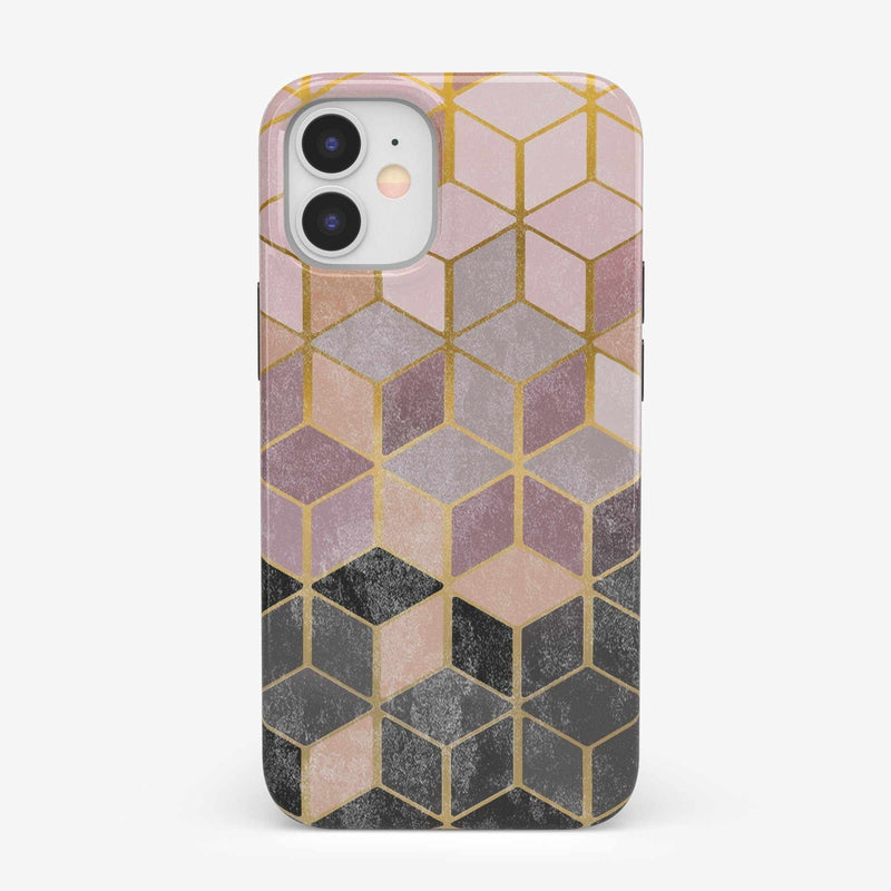 Geo Rose Gold Marble Case iPhone Case get.casely Classic iPhone 12 Mini