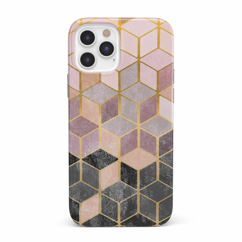 Geo Rose Gold Marble Case iPhone Case get.casely Classic iPhone 12 Pro