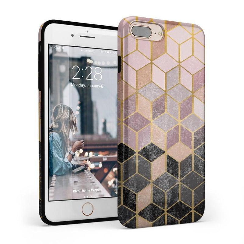 Geo Rose Gold Marble Case iPhone Case Get.Casely Classic iPhone 8 Plus