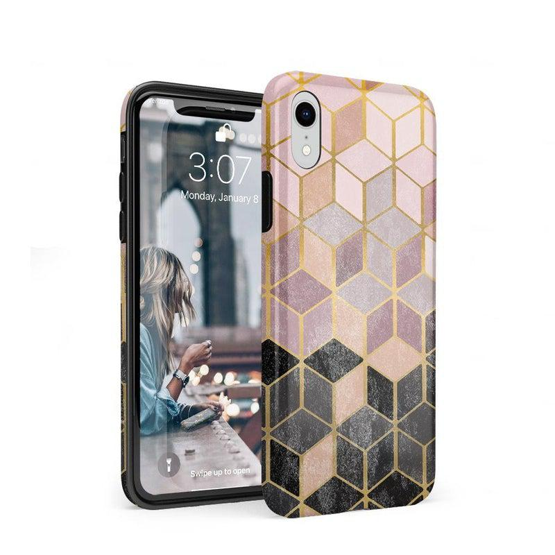 Geo Rose Gold Marble Case iPhone Case Get.Casely Classic iPhone XR