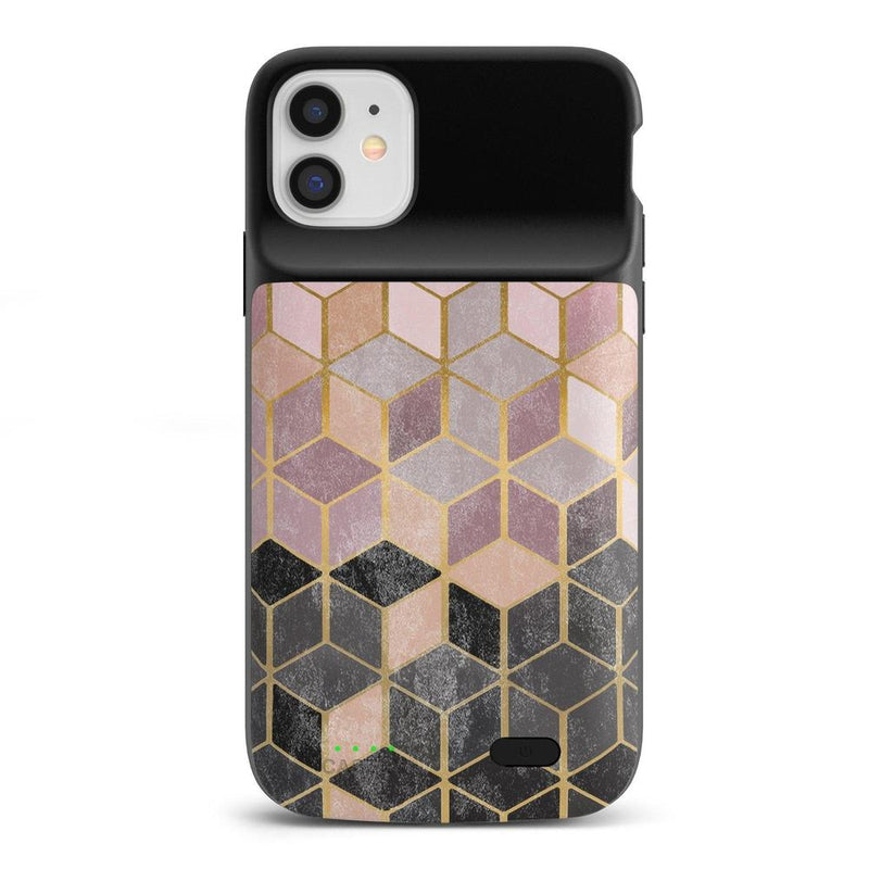 Geo Rose Gold Marble Case iPhone Case get.casely Power 2.0 iPhone 11