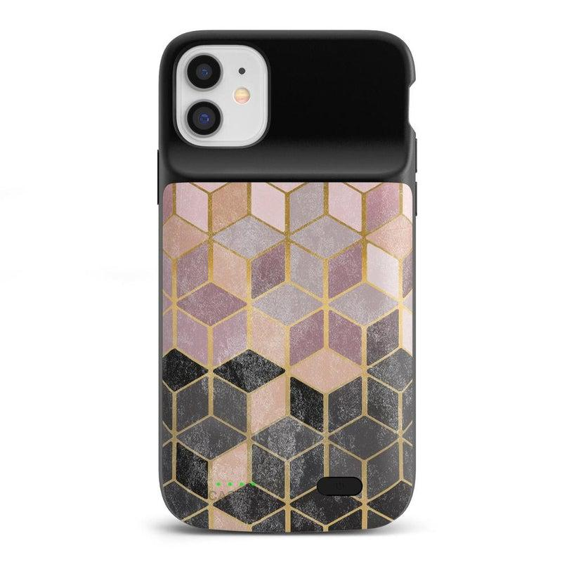 Geo Rose Gold Marble Case iPhone Case get.casely Power 2.0 iPhone 12 Mini