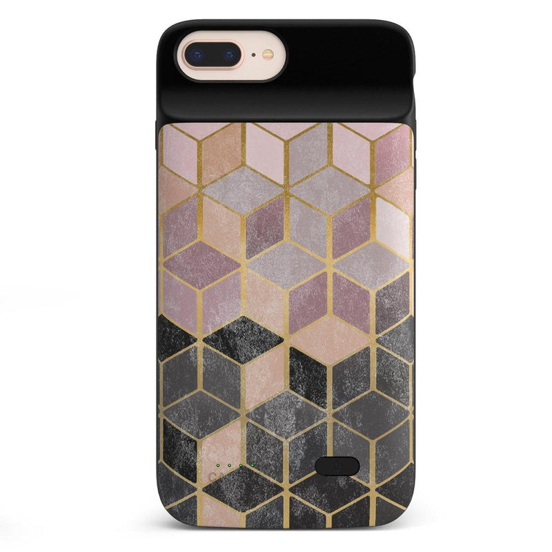 Geo Rose Gold Marble Case iPhone Case get.casely Power 2.0 iPhone 8 Plus