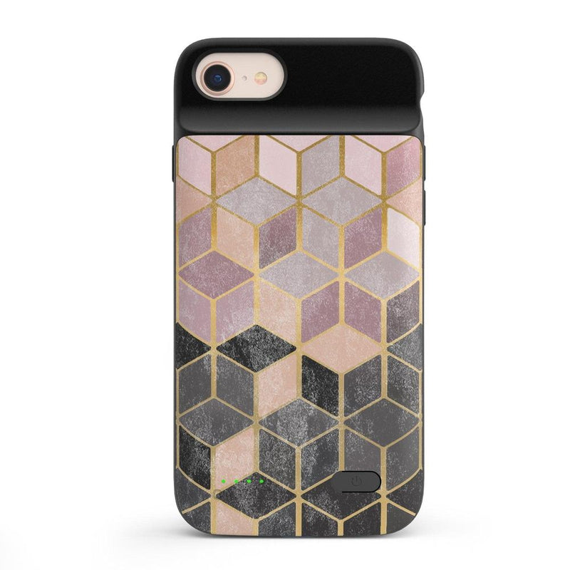 Geo Rose Gold Marble Case iPhone Case get.casely Power 2.0 iPhone SE (2020)