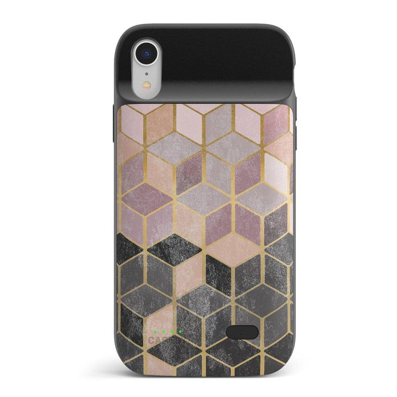 Geo Rose Gold Marble Case iPhone Case get.casely Power 2.0 iPhone XR