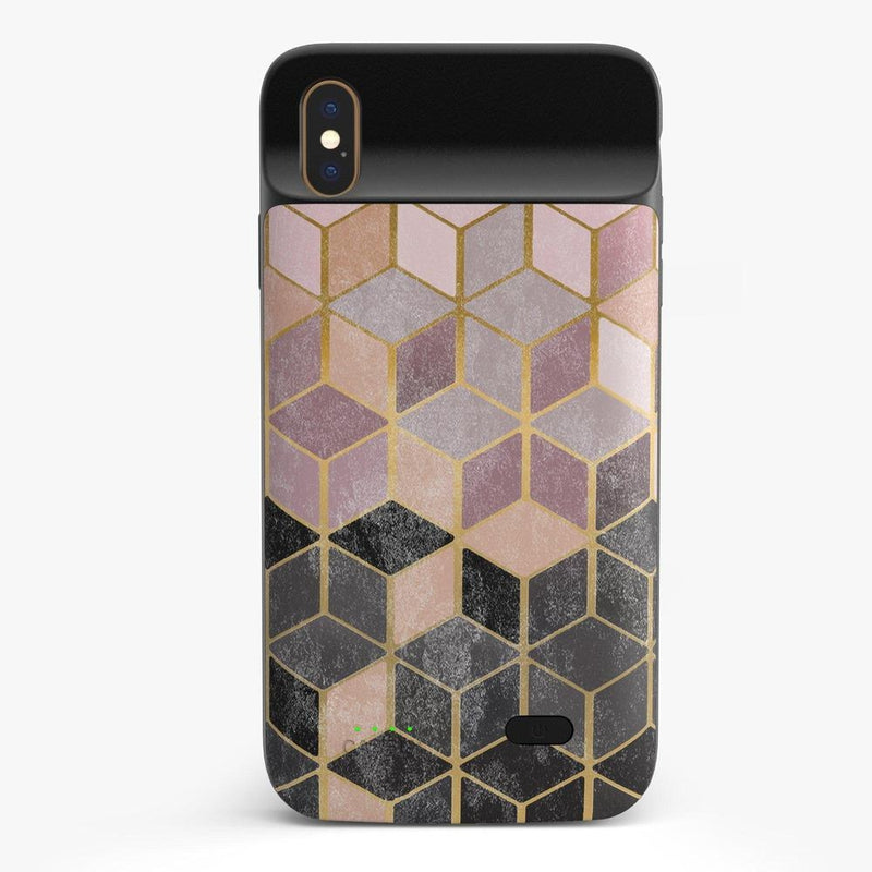 Geo Rose Gold Marble Case iPhone Case get.casely Power 2.0 iPhone XS Max