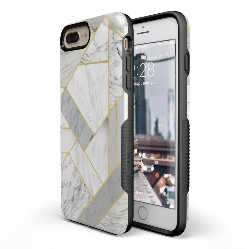 Geo White and Gold Marble Case iPhone Case Get.Casely