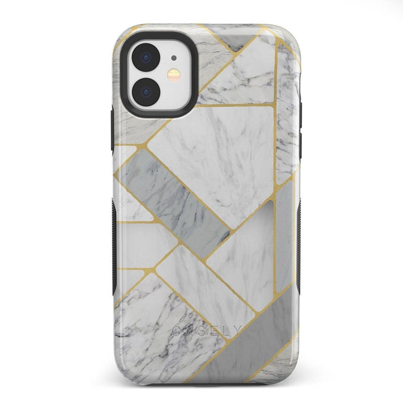 Geo White and Gold Marble Case iPhone Case Get.Casely Bold iPhone 11