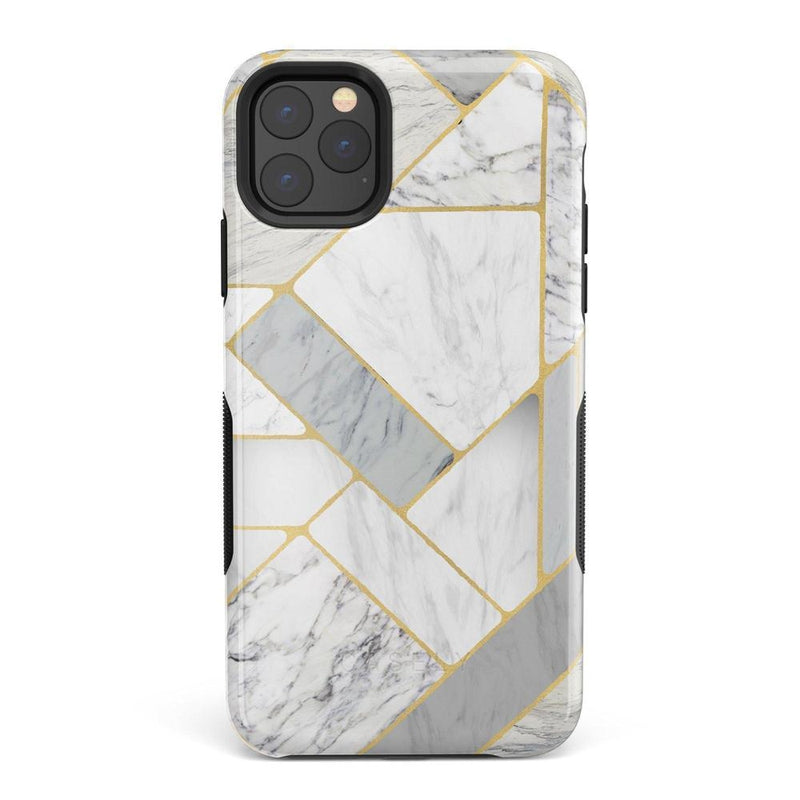 Geo White and Gold Marble Case iPhone Case Get.Casely Bold iPhone 11 Pro
