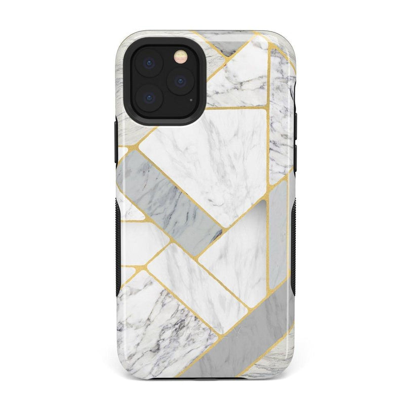 Geo White and Gold Marble Case iPhone Case Get.Casely Bold iPhone 11 Pro Max