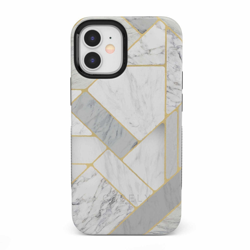 Geo White and Gold Marble Case iPhone Case get.casely Bold iPhone 12 Mini