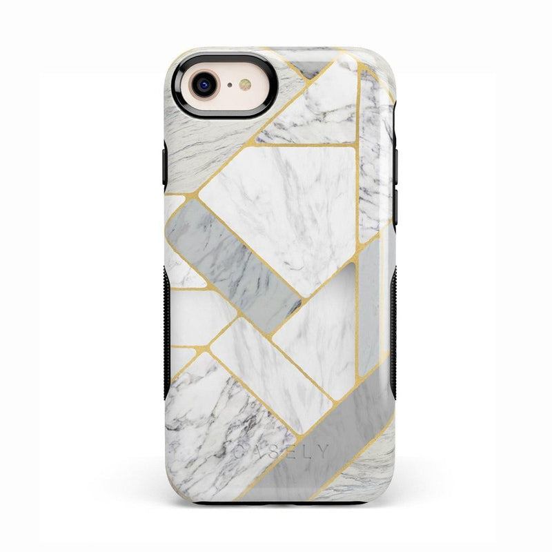 Geo White and Gold Marble Case iPhone Case Get.Casely Bold iPhone 8