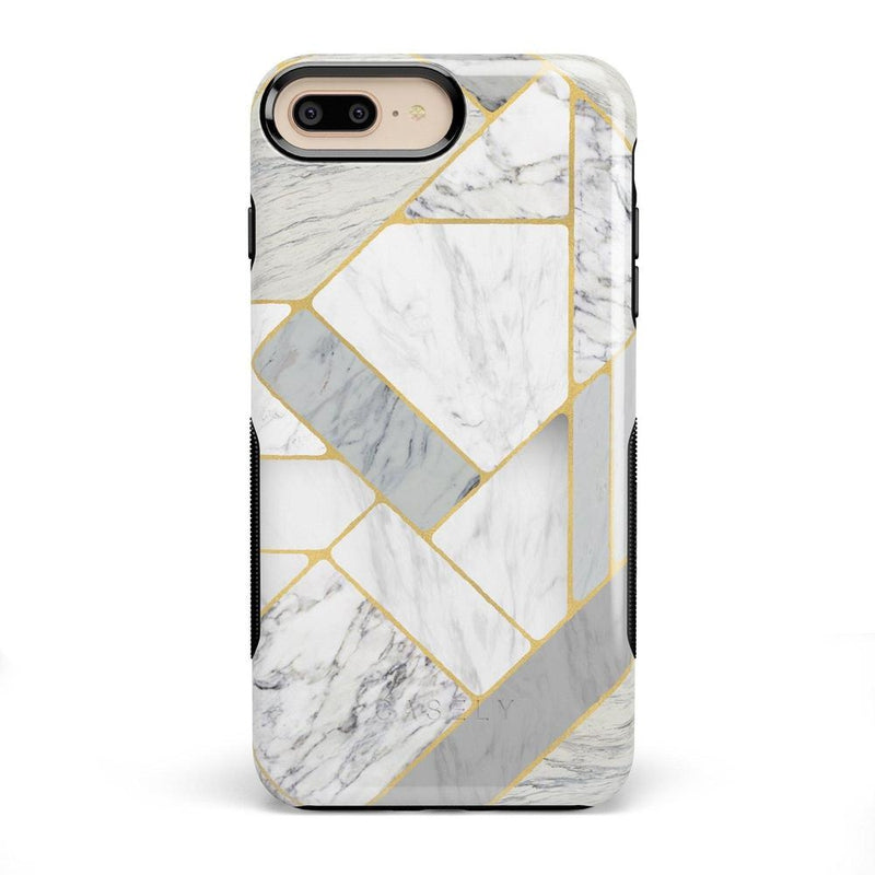 Geo White and Gold Marble Case iPhone Case Get.Casely Bold iPhone 8 Plus