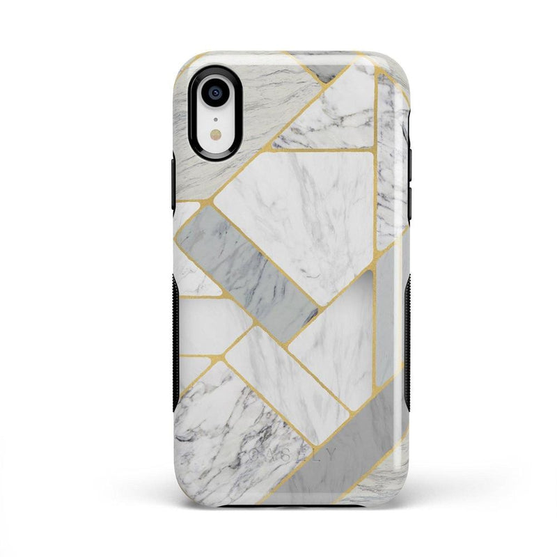 Geo White and Gold Marble Case iPhone Case Get.Casely Bold iPhone XR