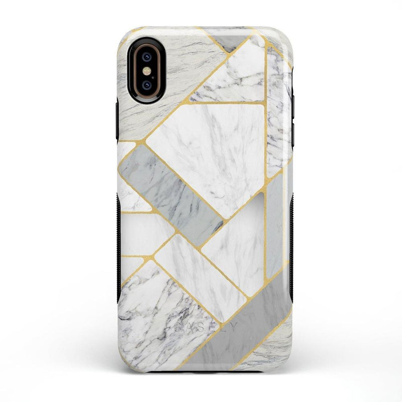 Geo White and Gold Marble Case iPhone Case Get.Casely Bold iPhone XS Max
