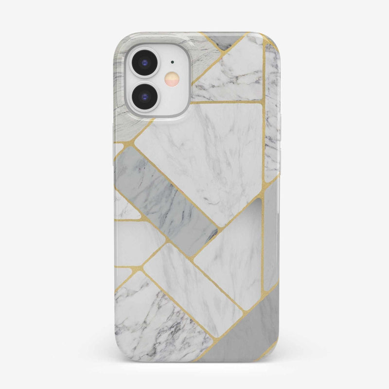Geo White and Gold Marble Case iPhone Case get.casely Classic iPhone 12 Mini