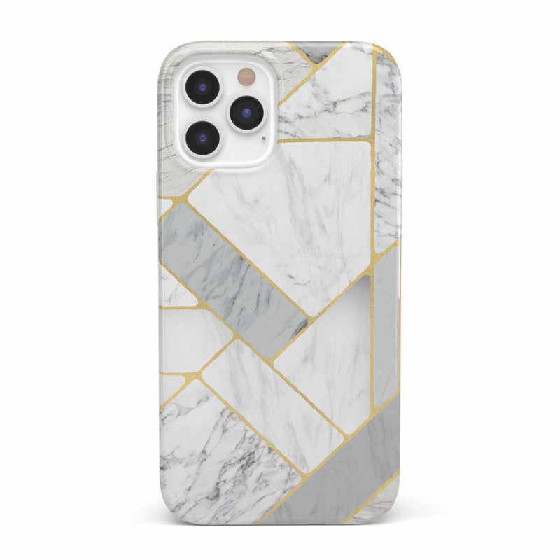 Geo White and Gold Marble Case iPhone Case get.casely Classic iPhone 12 Pro