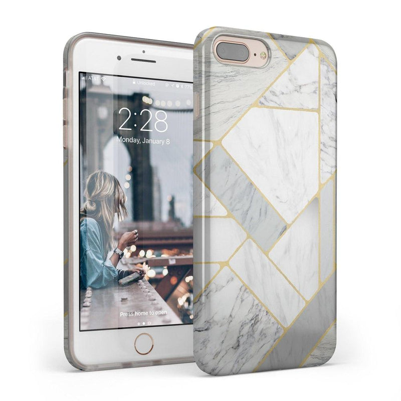 Geo White and Gold Marble Case iPhone Case Get.Casely Classic iPhone 6/6s Plus